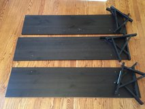 Set of 3 Wall Shelves & Brackets in Naperville, Illinois