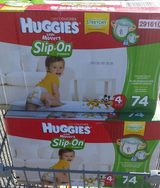 Size 4 huggies slip on 74 ct in Gloucester Point, Virginia