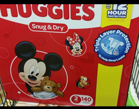 Huggies snug and dry size 2 140 ct in Gloucester Point, Virginia