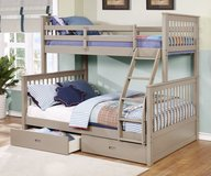 NEW TWIN FULL BUNK BED WITH DRAWERS AND TALL CHEST in Riverside, California