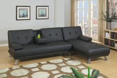 Futon Sectional in black in Nellis AFB, Nevada