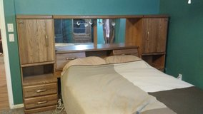 Queen Wall Unit with bed in Conroe, Texas