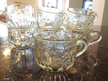 12 glass cups with fruit pattern in Fort Leonard Wood, Missouri