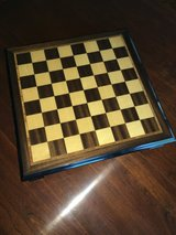 Wooden Chess and Checker Set - Made in Sorrento Italy in Houston, Texas