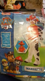 Paw patrol costume toodler 3-4 like NEW!!!!! in Cherry Point, North Carolina