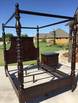Ashley Furniture Queen Canopy Bed and Two Nightstands in Lawton, Oklahoma