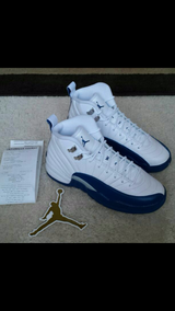 Size 6y JORDAN 12 French Blue. DEADSTOCK HURRY!!!! Authentic with receipt. in Naperville, Illinois