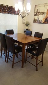 Dinning Room Table with 6 leather Chairs in Naperville, Illinois