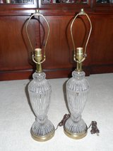Vintage Pair Pressed Glass Lamps in Naperville, Illinois