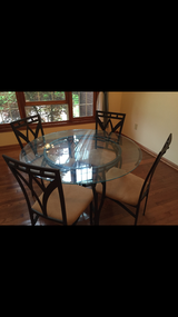 Glass table and 4 chairs in Fort Leonard Wood, Missouri