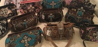 Brand New Purses, wallets and hats - will mix and match in Baytown, Texas