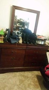 Solid wood Large dresser with mirror tall dresser  and two night stands in Leesville, Louisiana