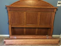 Real wood headboard & footboard queen size in Clarksville, Tennessee