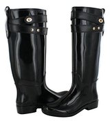 NEW COACH women talia black & gold turn lock rain boots size 5 in Naperville, Illinois