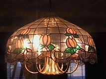 Stained Glass Hanging Light in Bartlett, Illinois