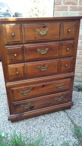 Vintage 5 Drawers Chest Of Drawer By Lea in Houston, Texas