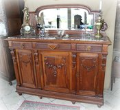 gorgeous credenza with marble top and original mirror in Spangdahlem, Germany
