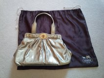 Gold patent leather Coach satchel in Aurora, Illinois