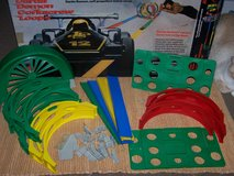 Vintage 1980's DARDA DEMON CROCKSCREW LOOPS Race Car Track Set in Oswego, Illinois