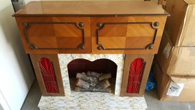 almost 80 years old electric fireplace, in Fort Irwin, California