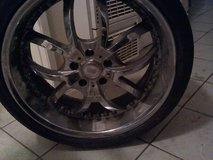 """set of 20"""" chrome rims in Yucca Valley, California"""