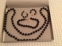 Black Onyx necklace set in Beaufort, South Carolina