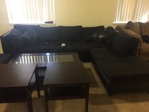 black sectional woth ottoman in Fort Irwin, California