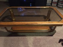 Wooden coffee table in Fort Lewis, Washington