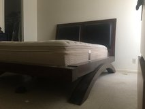 Queen sized bed frame very nice! Cherry wood Chinese style in Fort Irwin, California