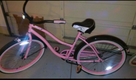 Pink Vintage Bike in Lackland AFB, Texas