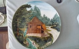 Cabin in Woods Decorative Plate in Conroe, Texas