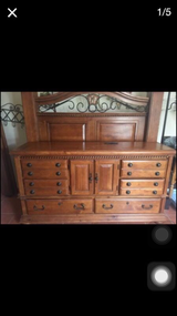 Queen size headboard footboard and dresser in Fort Bliss, Texas