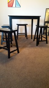 Bar Dining Table and Four Chair Stools in Schaumburg, Illinois