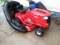 Troy built riding lawn mower with bagger attachment. in Quad Cities, Iowa