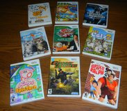 9 Nintendo Wii Games Rated Everyone / Family / Kids Game Lot in Houston, Texas