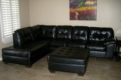 Leather Sectional in Fort Bliss, Texas
