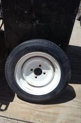 Trailer Tire and Rim ( 4.80 - 12 ) 4 Lug in 29 Palms, California