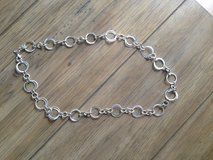 Silver Circle Necklace in Okinawa, Japan