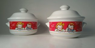 NEW Two (2) Campbells Soup Kid's Collectable Soup Bowls with Lids M'm! M'm! Good in Joliet, Illinois