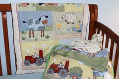 Barnyard Theme: Crib & Room: quilt/fitted sheet/bumpers/dust ruffle, valance x2 in Miramar, California
