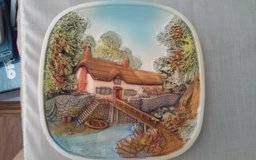 House by Water Ceramic Plate in Conroe, Texas