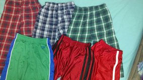 3 pairs of boys pajama pants and 3 pairs of athletic shorts in St. Louis, Missouri