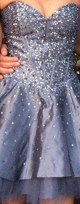 Silver dress with sequins size medium & matching shoes size 9.5 in Camp Pendleton, California