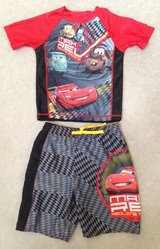 Cars swim trunks and matching rash guard 5T in Chicago, Illinois