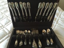 Silver plate silverware set of 12, very fine and hardly used in Glendale Heights, Illinois