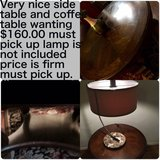Reduced Ashley coffee table set no lamp! in Fort Sam Houston, Texas