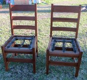 TWO ANTIQUE OAK CHAIRS WITH SPRINGS in Cherry Point, North Carolina