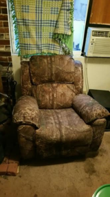 Camo recliner in Fort Lewis, Washington