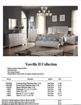 NEW STYLE MIRRORED BED SET WITH FREE TALL CHEST in San Bernardino, California