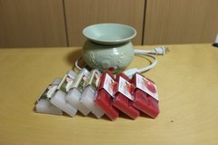 Electoric Wax warmer with 7 packs of Time & Again wax waffle bars   jade color in Okinawa, Japan